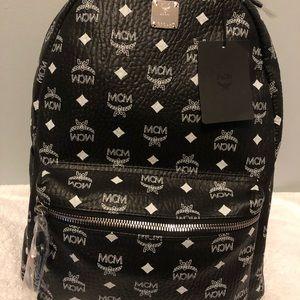 Mcm Limited Ed Studded Handle Backpack